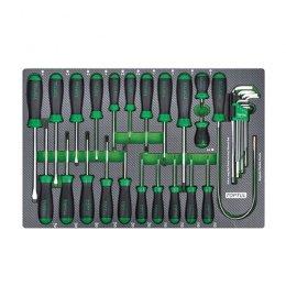 Набор инструмента комбинированный 31ед. (в ложементе) TOPTUL GED3102 GED3102 TOPTUL
