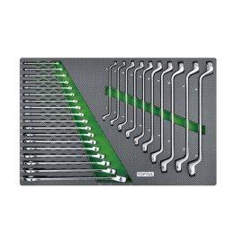 Набор ключей комбинированных и накидных 6-27мм 28ед.(в ложементе) GED2813 TOPTUL
