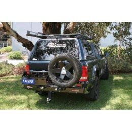 Задний бампер Kaymar с калитками VW Amarok 2010-...
