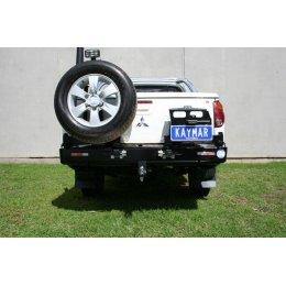 Задний бампер Kaymar с калитками Mitsubishi L200 2006-2015