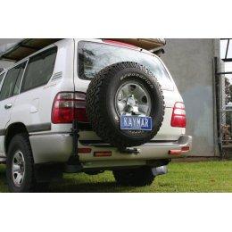 Крепеж номерного знака к калитке Toyota Land Cruiser 100