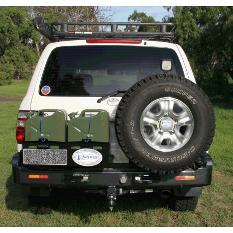 Задний бампер Kaymar с калитками Toyota LC 105 1997-2007