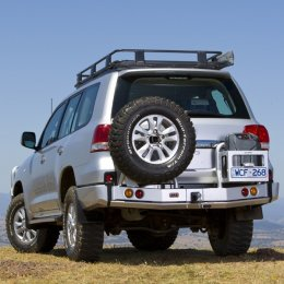 Задний силовой бампер ARB с калитками Toyota LC 200 2007-2015
