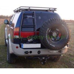 Задний силовой бампер с калиткой Mitsubishi Pajero Sport 2001-2010