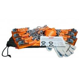 """Комплект усиленных браслетов противоскольжения 205-235 R16-21"""" (8 штук)"""