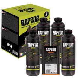 Комплект черного защитного покрытия U-POL Raptor (4 литра)